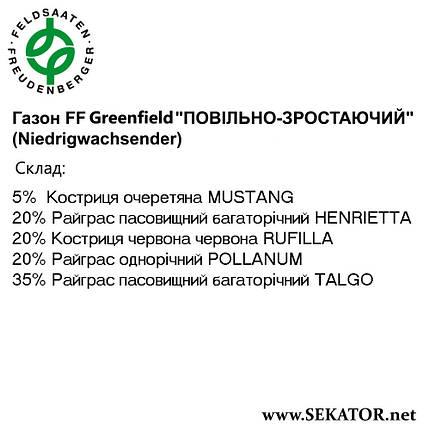 """Газон FF Greenfield """"Повільно зростаючий"""" (Niedrigwachsender), фото 2"""