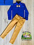 Ярко-синяя рубашка Cool Finish для мальчика 3 года, фото 2