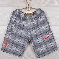 """Шорты подростковые трикотажные """"Nike Red"""". Размеры 40-42-44-46-48 (10-14 лет). Клетка со строчкой. Оптом, фото 1"""