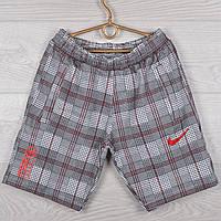 """Шорты подростковые трикотажные """"Nike Red"""". Размеры 40-42-44-46-48 (10-14 лет). Клетка с красной строчкой. Опт, фото 1"""