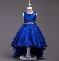 Платье синее бальное выпускное нарядное для девочки в садик или школу, фото 1