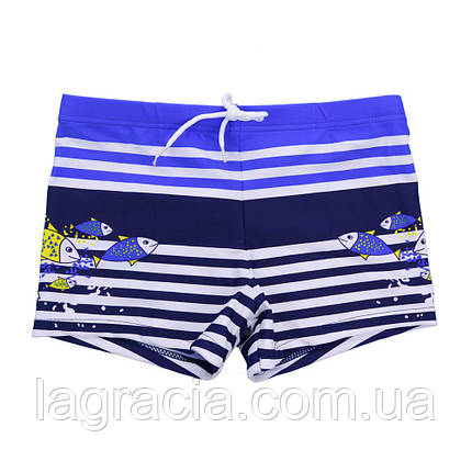 Детские плавки-шорты для мальчика от 2 лет Синий + темно-синий, фото 2