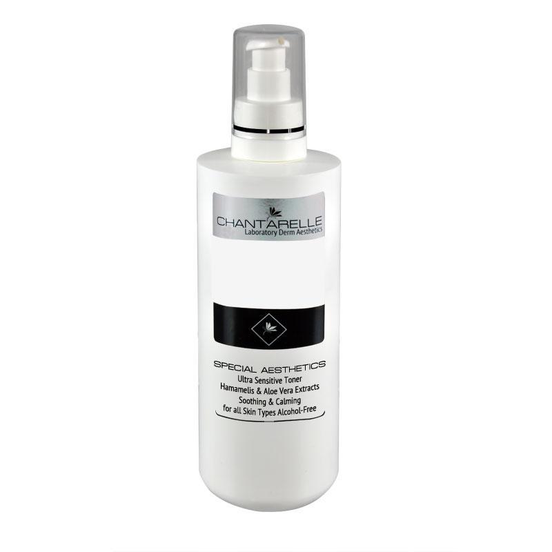 Успокаивающий тоник  для ультрачувствительной кожи Ultra Sensitive Toner 500 ml Chantarelle