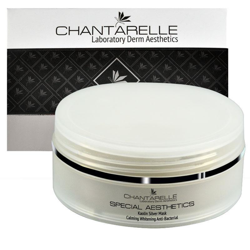 Кремовая каолиновая антибактериальная успокаивающаямаска White Calm Kaolin Mask With Silver 150 ml Chantarelle