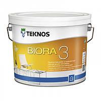 Водорозчинна фарба для стін та стелі Teknos Biora 3, 2.7 л