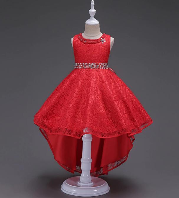 Платье красное бальное выпускное нарядное для девочки в садик или школу
