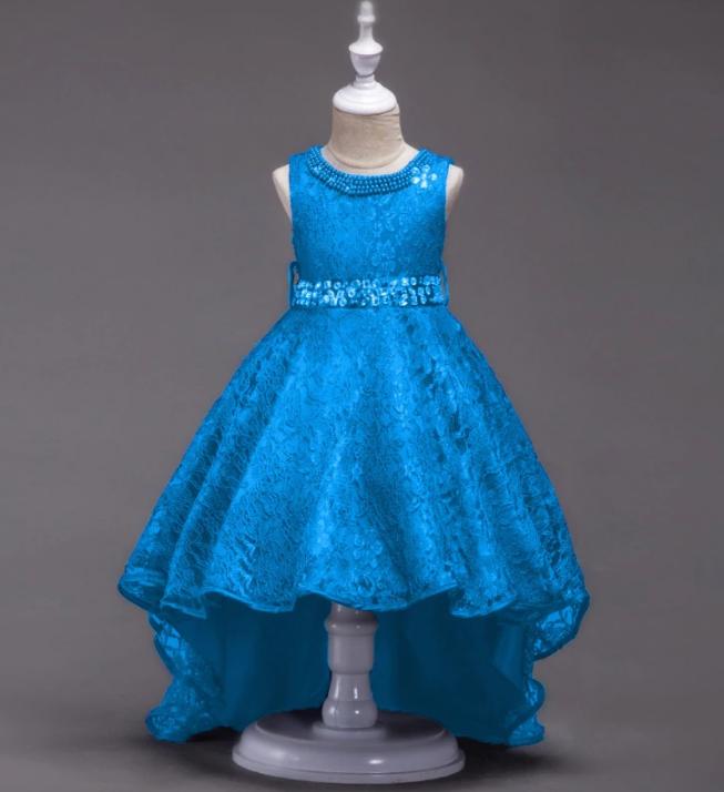 Платье голубое бальное выпускное нарядное для девочки в садик или школу