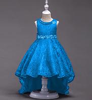 Платье голубое бальное выпускное нарядное для девочки в садик или школу, фото 1