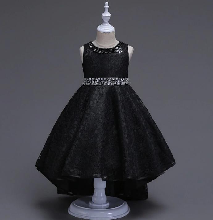 Платье черное бальное выпускное нарядное для девочки в садик или школу