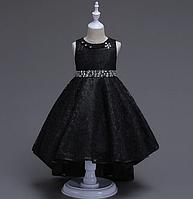 Платье черное бальное выпускное нарядное для девочки в садик или школу, фото 1