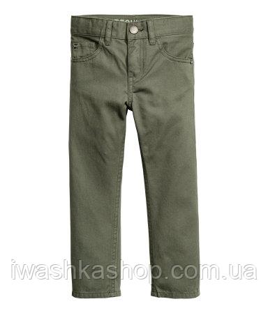 Стильные брюки - чиносы цвета хаки для мальчика 2 - 3 лет, р. 98, H&M