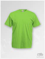 Салатовые футболки мужские Fruit of the Loom