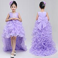 Платье сиреневое бальное выпускное нарядное для девочки в садик или школу