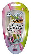 Женские одноразовые 4 лезвийные бритвенные станки BIC-4 Soleil Bella - 3 шт.