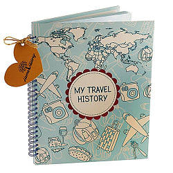 Альбом HOME HISTORY для мандрівок Travel History (UA) bordo