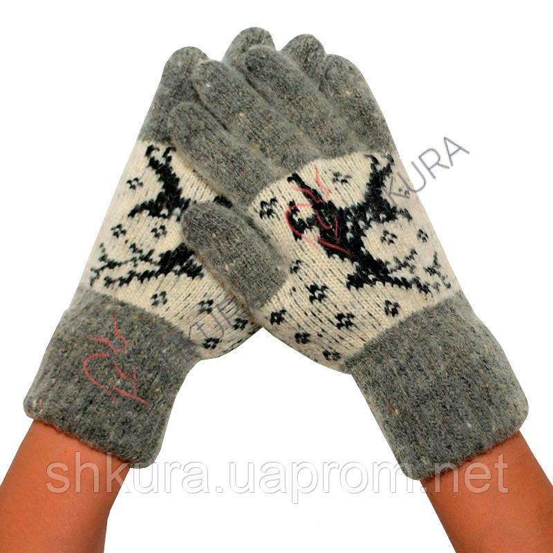 Женские зимние перчатки из ангорской шерсти 02