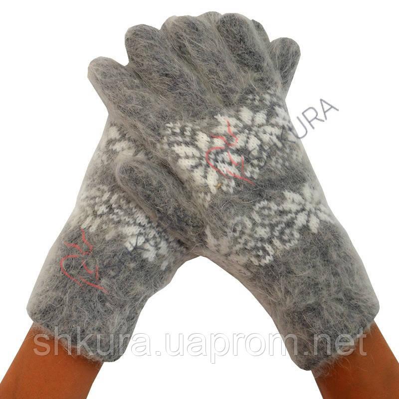 Женские зимние перчатки из ангорской шерсти 04