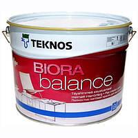 Водорозчинна фарба для стін та стелі Teknos Biora Balance, 9 л