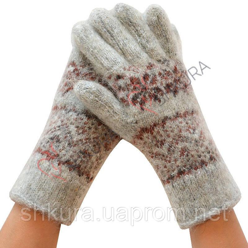Женские зимние перчатки из ангорской шерсти 09