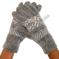 Женские зимние перчатки из ангорской шерсти 10