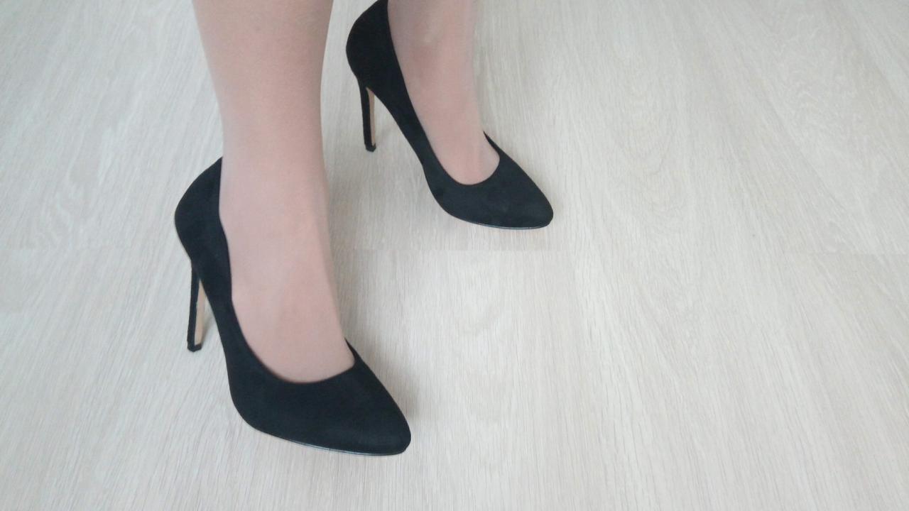 c8b803fd Женские туфли mei de li на каблуке (замша черный 2122-5), цена 567 ...