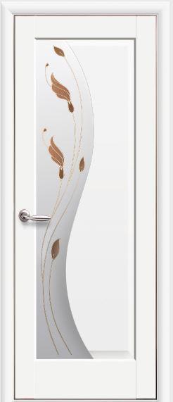 Межкомнатные двери белые со стеклом Эскада