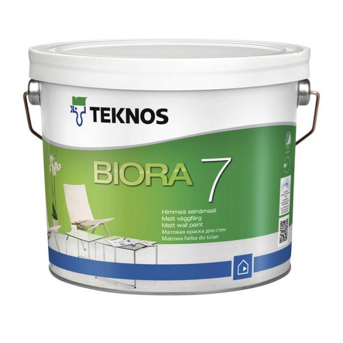Водорозчинна фарба для стін та стелі Teknos Biora 7, 2.7 л