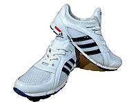 Кроссовки белые натуральная кожа  комбинированная с сеткой на шнуровке (А12)