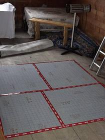 Для встановлення теплої підлоги і ефективного обігріву використовувалися всі допоміжні професійні шари, такі як теплоізоляція - E-PEX. заземлення - E-Dero і захист від фізичного пошкодження- E-Stone.