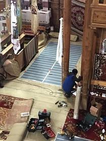 Монтаж теплої підлоги у церкві с.Ясеновець (Рожнятівський  р-н) 8