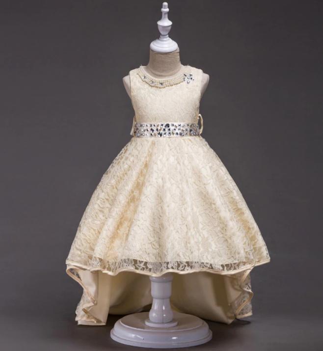Платье шампань бальное выпускное нарядное для девочки в садик или школу