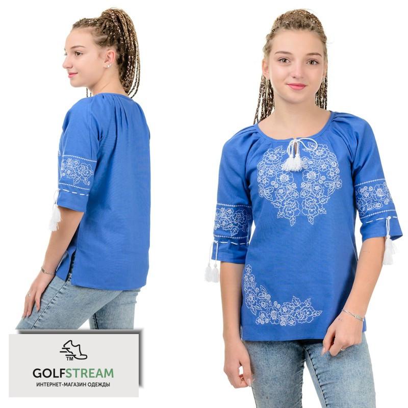 Женская вышиванка МОДЕРН (джинс)