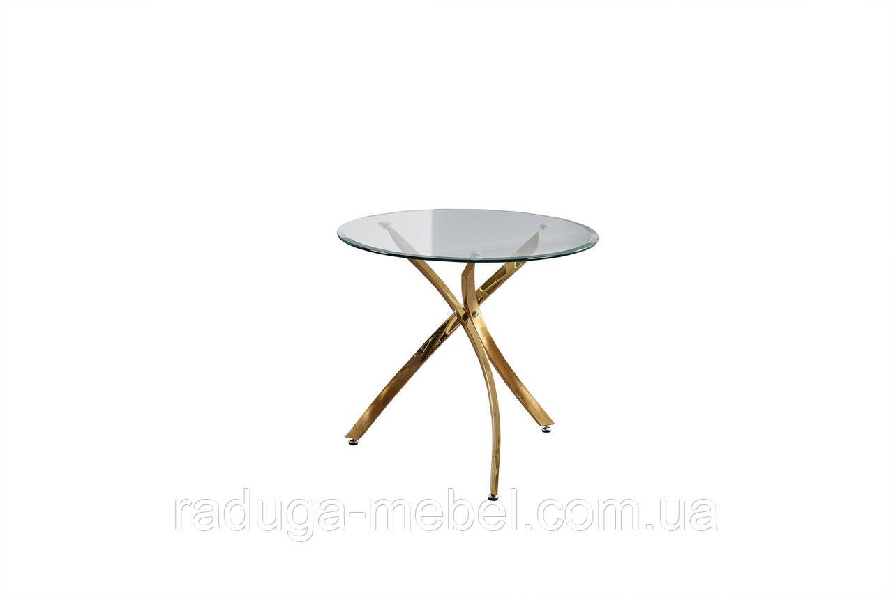 Стол кухонный обеденный стеклянный  Т-317