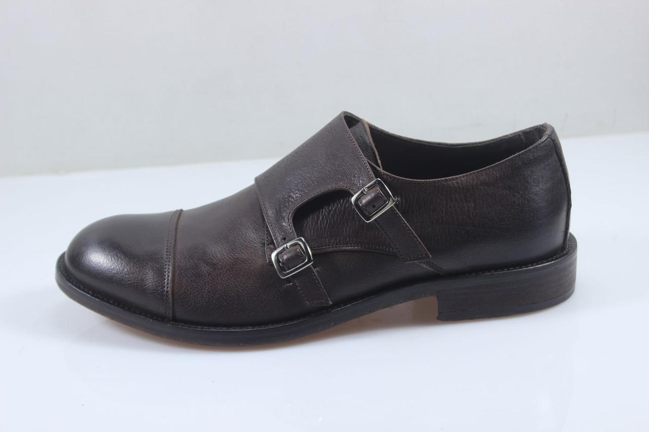 3e13c8462409 Туфли мужские монки Otisopse 29.5 см 44 р темно-коричневый 4021 - Интернет  магазин товаров