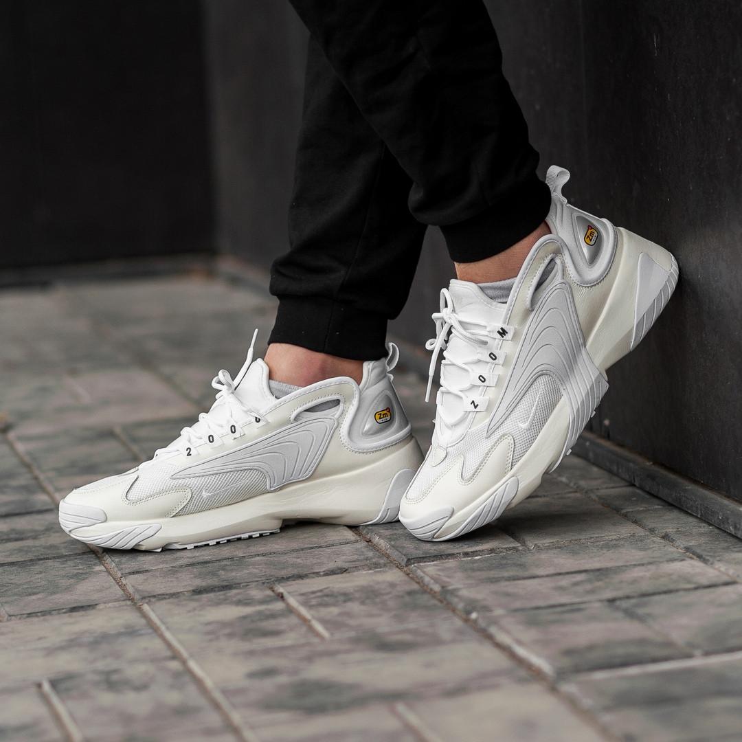 Мужские кроссовки в стиле Nike Zoom 2k White (Реплика ААА+)