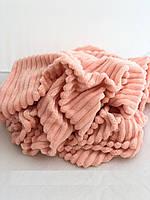 Плюшевый чехол на кушетку 76 см на 200 см - персиковый (шарпей)