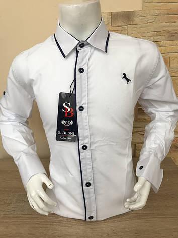 Детская белая  рубашка Sinyor Besni 7-12, фото 2