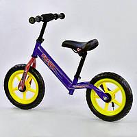 Велобег беговел детский Corso 1540 синего цвета, колесо 12« пена