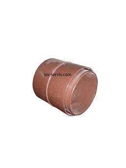 Муфта для водостічної труби ду90 wavin rosa
