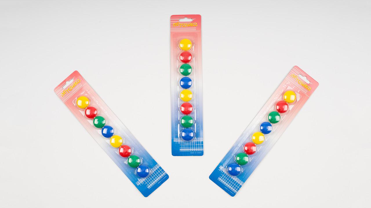Магниты для доски. Размер 20 мм. В упаковке 8 штук
