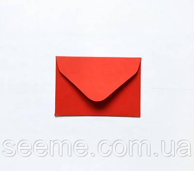 Конверт 93х64 мм, цвет красный