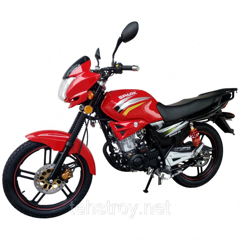 Мотоцикл SPARK SP200R-25i (красный,синий,белый) + Доставка бесплатно