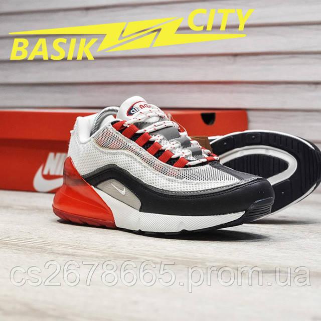 Мужские кроссовки Nike Air Max Hybrid 270-97 White Red фото описания