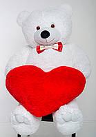 Плюшевий ведмедик з сердечком Mister Medved 200 см Білий