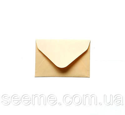 Конверт крафт 93х64 мм, цвет французская ваниль