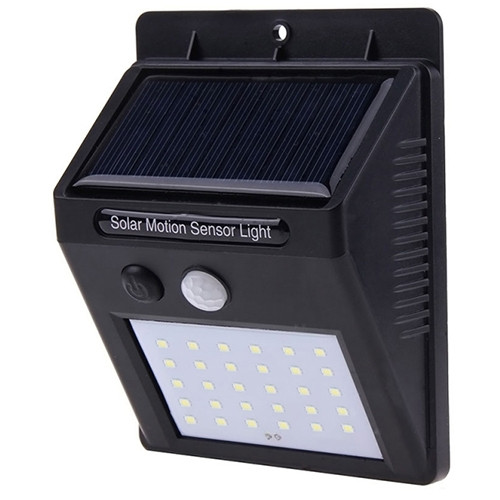 Настенный уличный светильник XF-6010 30 smd PIR с датчиком движения и солнечной батареей