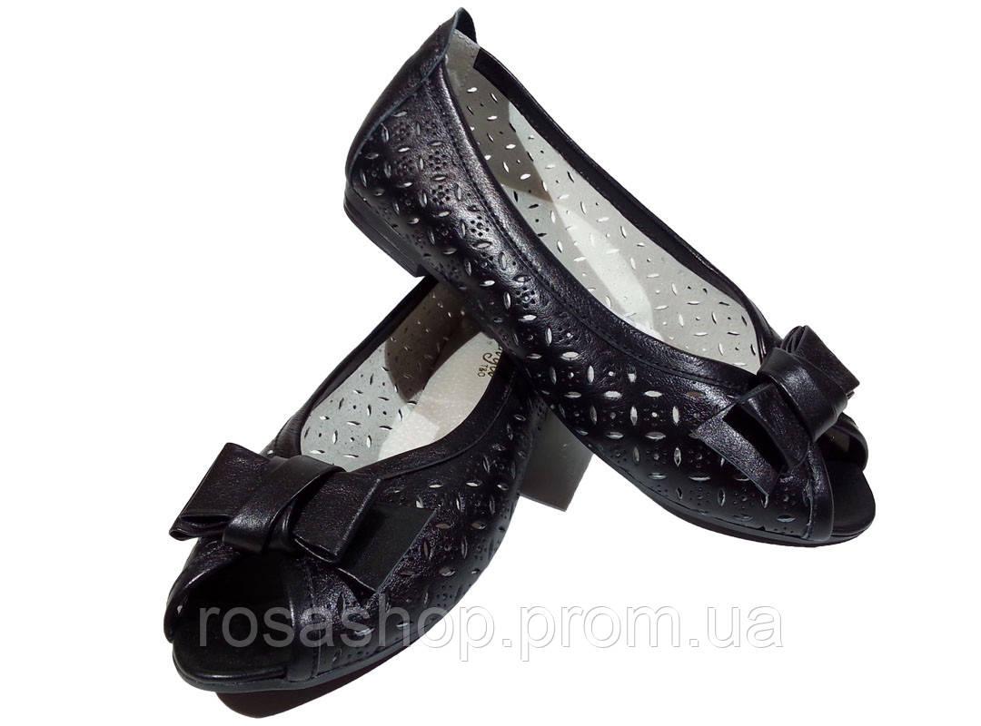 ecdf62472 Балетки женские натуральная кожа летние черные (183) - Интернет-магазин