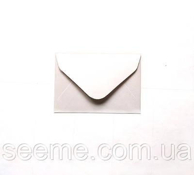 Конверт 93х64 мм, цвет белый