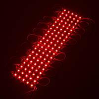 Светодиодный LED модуль SMD 5050-3 R красный герметичный IP65