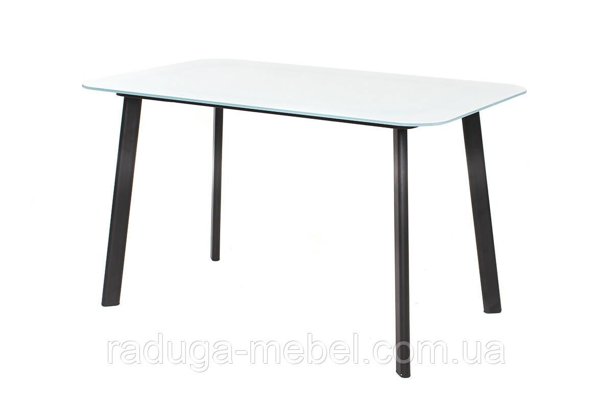 Стол кухонный обеденный стеклянный белый Т-312